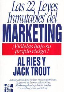 De los mejores libros de mercadotecnia, que tiene 22 leyes que cambiaron la forma de entender el marketing