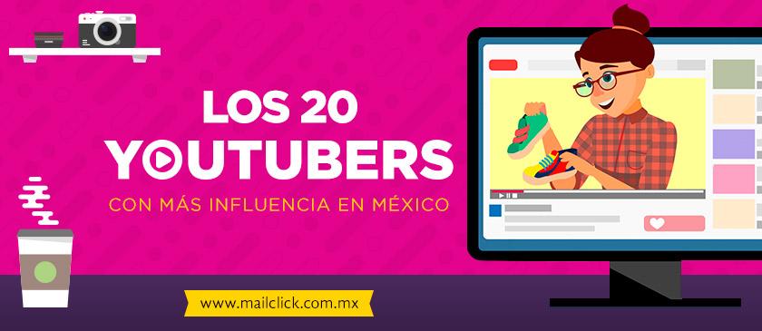Los 20 youtubers con más influencia en México