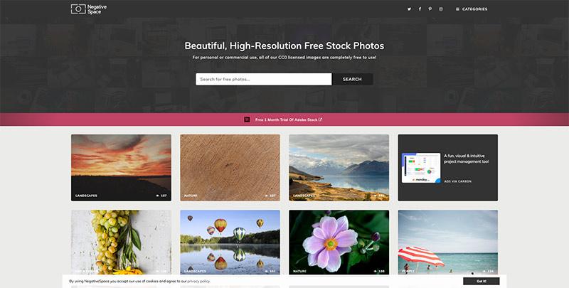 Banco de imágenes de alta resolución Negative Space
