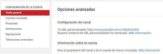 SEO en Youtube Paso final para personalizar la url del canal