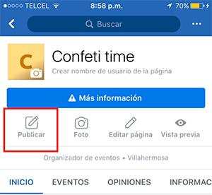 paso 2 cómo transmitir en vivo por Facebook desde dispositivo móvil