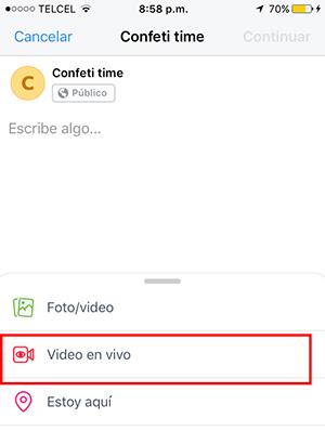 paso 3 para transmitir en vivo desde un dispositivo móvil