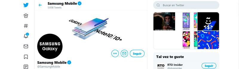Captura de pantalla de la portada de Samsung Mobile