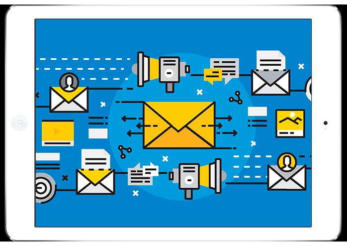 Diagrama del proceso para el desarrollo de una campaña emailing