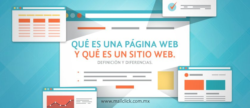 Portada artículo qué es una página web y qué es un sitio web