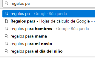 Uso de sugerencias de Google al investigar palabras clave