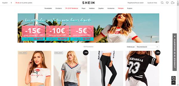 Ejemplo de colores para tienda en línea