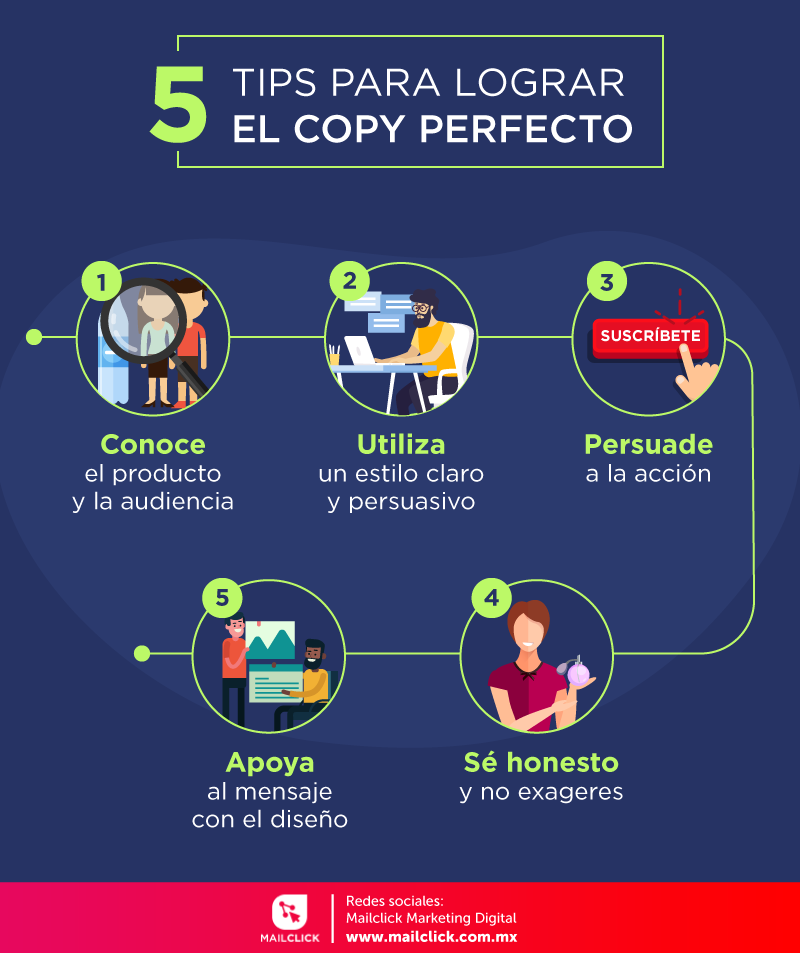 5 tips para lograr el copy ideal