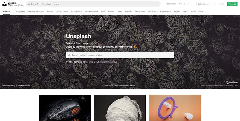 Fotos de stock de Unplash
