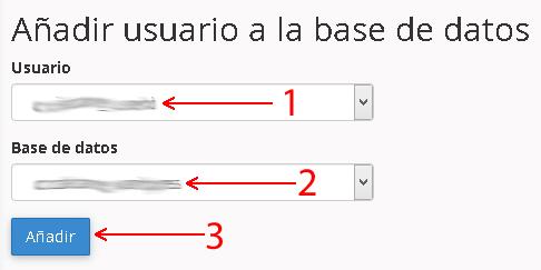 Añadiendo el usuario a la base de datos para la instalación de WordPress