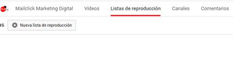 Youtube SEO crear listas de reproduccion en el canal