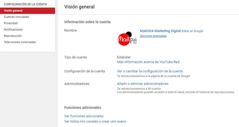Seo en youtube paso 2 para personalizar la url del canal